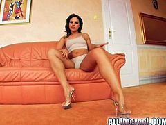 Make sure you have a look at this hardcore scene where the horny Silvia Saint plays with herself before riding a big cock and ending up with her pussy filled by semen.