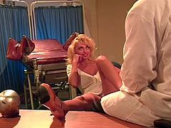 Voracious and sexy blond haired bitch gets her wet vagina fucked hard outdoors. Have a look at this chick in The Classic Porn sex clip.