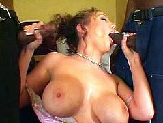 Kiki Daire is a perverted MILF and she just loves getting all of her holes filled with cocks. See her stroking two dicks at once and how she enjoys warm cumshot.