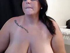 Huge tanlined tits on Milf