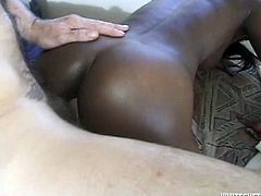This chocolate enchantress does have a nice ass. Damn, that sweet ass of hers drives me insane! Cock crazed ebony slut rides her lover's dick in cowgirl position. A few positions later she fucks in sideways position.