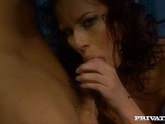 A sexy, mature redhead with beautiful, natural tits and a hot ass enjoys a hardcore anal fuck. Hear her scream with pleasure now!