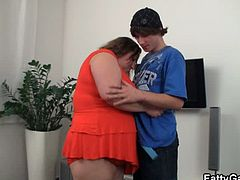 Fatty Game brings you a hell of a free porn video where you can see how this brunette BBW gets her cunt banged deep and hard into a massively intense orgasm.