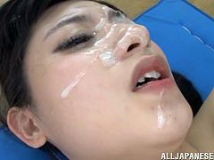 Naughty Japanese teacher takes her clothes off and makes her students extremely horny. All of them get extremely horny and show her what they got.