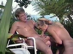 Kinky and sexy blond haired whore with ic