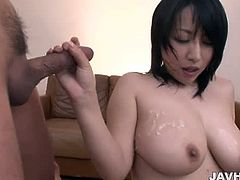 Jav HD brings you a hell of a free porn video where you can see how this wild Asian brunette gets banged and creamed by two dudes into a massively hot orgasm.