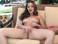 Dani Daniels playing with dildo
