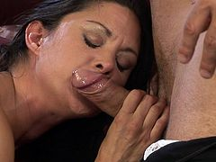 Never did her wet cunt felt so amazing as horny guy strokes his dick deeper than ever before