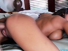 Busty Madison Ivy blows and rides cock