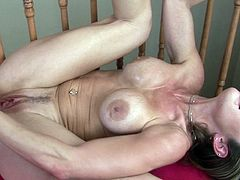 Nasty milf, Felony, is about to crack her juicy holes by masturbating with monster cocks meant to please her right