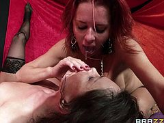Go wild as you watch these cougars, with big gazongas wearing nylon stockings, while they masturbate until they squirt and get fucked by a dirty dude.