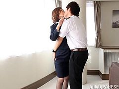 The Asian MILF teases her twat and gets her asshole fingered by a horny stud. The sassy whore enjoys feeling his fingers inside of her.