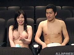 Japanese amateur screams as he fucks her hairy pussy missionary style as her lovely natural tits show before spraying her facial with cumshot