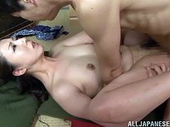 Gorgeous Asian babe Iroha Sagara gets her yummy butthole licked and rides a big cock after giving the guy the blowjob of his life.