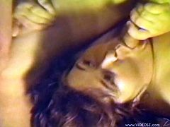 Take a look at this vintage video where a slutty BBW by the name of Joan is fucked by two guys in a threesome.