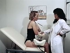 Short and fair haired hooker with huge sexy boobs went to doctor to check the state of her dumpy vagina. When he set to touch her hot fuck hole she got horny and set to attack him.Take a look at that hottie in The Classic Porn sex clip!