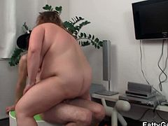 Checkout this fat horny bbw getting fucked by this dude. Ugly fat hoochie gets her snatch fucked missionary style, dude fucks her hard and her fat rolls bounce as well as her ugly saggy tits. Enjoy!