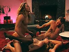 This light haired rapacious hoe blew hard penis of that long haired guy when the other freak fucked her lovely kitty from behind rough. Enjoy that hard FMM fuck in The Classic Porn sex clip!