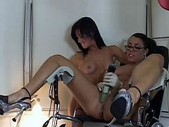 Press play on this hot scene and watch these sexy nurses masturbate in this hot lesbian scene that'll make your dick hard.