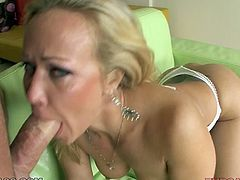 Luxurious porn babe with big booty and massive juggs Austin Taylor looks super hot in her high hell shoes and white body. Bald fucker east her pussy and asshole while Austin blows his big dick in 69 pose.