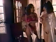 Black haired whorish gal with tiny tits lied on black leather sofa and enjoyed getting her moist vagina eaten and fucked in missionary style. Have a look at that steamy fuck in The Classic Porn sex video!