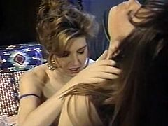 Light haired chick in black stockings rested in bed with legs spread apart and enjoyed getting her throbbing pussy licked by that gorgeous sweetie. Look at that steamy lesbo sex in The Classic Porn sex video!