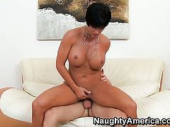 Michael Vegas seduces Shay Fox with gigantic melons and shaved bush into fucking