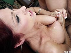 Tiffany Mynx gets her butt fucked and creampied and enjoys it
