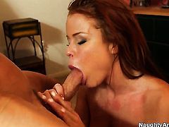 Johnny Sins wants to fuck sex starved Nikki Delanos nice twat forever