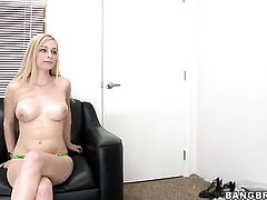 Stacie Jaxxx with bubbly ass enjoys sturdy dick in her hands