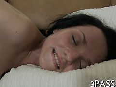Awesome hottie drilled in anal gap