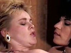 Bosomy curly haired filth blows that throbbing sausage with passion. Then the other busty jade gave him awesome boob fuck. Finally the third brunette lassie got her anus polished in reverse cowgirl pose. Look at that dirty FFFM fuck in The Classic Porn sex clip!