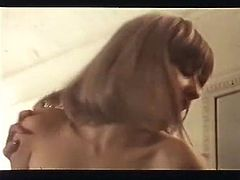 Long haired ebony sweetie lies with legs spread apart and enjoys getting her hot hairy poontang licked by her zealous pal. Take a look at that steamy lesbo fuck in The Classic Porn sex clip!
