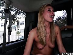 Coco Blue with round ass is curious about taking cumshot on her nice face