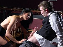 Get a load of this hardcore scene where the busty Jasmine Jae ends up with a very messy facial after being fucked while wearing stockings.
