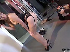 Bootyful chick Tiffany Doll takes part in FFM threesome