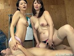 Sexy Asian Amateur FFM Threesome