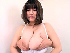 A vivacious, Asian pornstar with big, natural tits and a hot body enjoys an awesome doggy style fuck. Hear her scream with pleasure now!