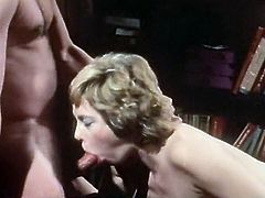 Short and curly haired hooker blows staff cock of that curious boy. Meanwhile her busty kooky gets fucked in sideways pose by the other feverish boy. Have a look at that dirty 4 some in The Classic Porn sex clip!