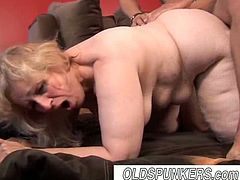 Horny mature slut named Anne is ready to get hammered by a meaty cock. Watch as she takes it ballsdeep in her old fat cunt and receiving a big facial cumshot.