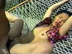 Skanky Asian girl gets fatty mouth cumshot in The Classic Porn video