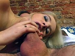 A vivacious, young blonde with small, natural tits and a great ass enjoys getting her wet pussy licked and fingered. Hear her moan with pleasure now!
