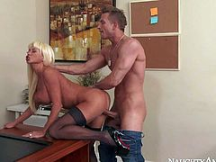 His teacher Nikita Von James is a fuck hungry perfect bodied milf with huge tits and shapely ass. She gets her pussy fucked right by insatiable student guy. This busty milf cant get enough!