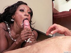 Take a look at this hot scene where the busty ebony babe Diamond Jackson is fucked silly by this guy's thick cock as you get a load of her amazing body.