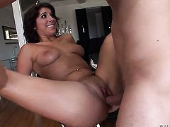 Miley Ann is in the mood for meat pole sucking in blowjob action with Mark Ashley