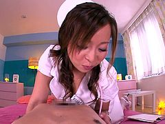 hot nurse curing her patient