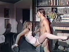 Light haired whorish wench in sexy white lingerie came to be properly punished by her strict teacher. At first she got her hairy pussy licked, then got banged in doggy pose. Finally she sucked that staff bonker. Take a look at that steamy sex in The Classic Porn sex video!