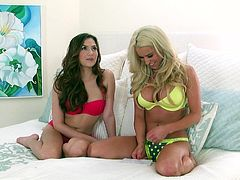 Two sultry babes Cassie Laine and Cassie Laine get naughty