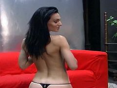 Amazing and attractive dark haired bitch with nice body takes off her clothes demonstrating her perfect curves. Have a look at this chick in All Porn Sites Pass xxx clip.