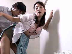 Mako Morishita is a horny little whore and she enjoys getting drilled anywhere it crosses her mind. See this ravishing babe as she fucks on the stairs with a hot dude.
